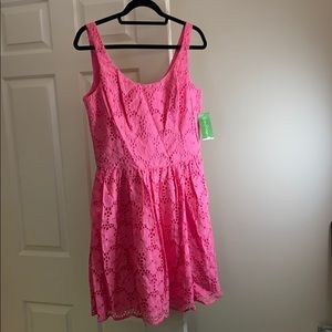 NWT Lilly Pulitzer pink Charleston Eyelet dress
